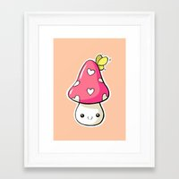 mushroom Framed Art Prints featuring Mushroom by Freeminds