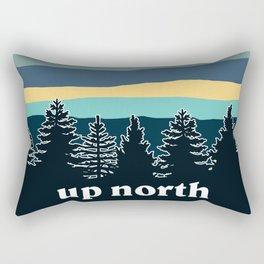 up north, teal & yellow Rectangular Pillow