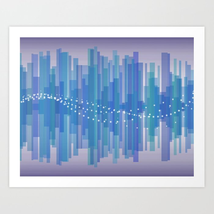 Blasting Waves Art Print
