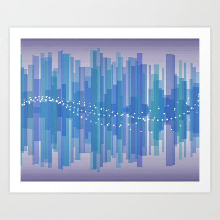 Blasting Waves Art Print