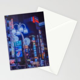 Tokyo night: A futuristic city, a beautiful dream Stationery Cards