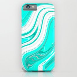 GreenishBlueishWhiteish iPhone Case