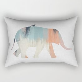 Pastel Elephant Rectangular Pillow
