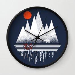 Chill of Winter Wall Clock