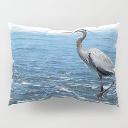 Great Blue Heron on the Pacific Coast in Costa Rica Pillow Sham