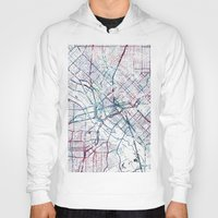 dallas Hoodies featuring Dallas map by MapMapMaps.Watercolors