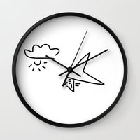 aviation Wall Clocks featuring hang-glider aviation by Lineamentum