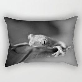Cute Little Frog (Black and White) Rectangular Pillow
