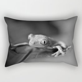 Cute Little Frog (Black and White) Rectangular Pillow