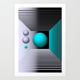 3D-geometry -4- Art Print