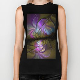 Come Together, Abstract Fractal Art Biker Tank