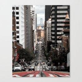 California Street - San Fransisco Canvas Print