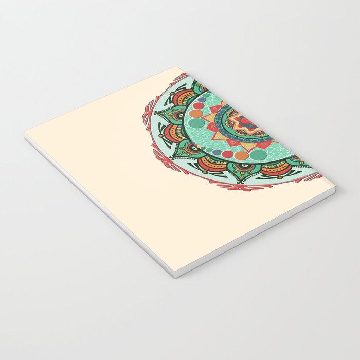Heart Light Multicolor Mandala Notebook
