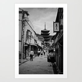 Being led by Kyoto... Art Print