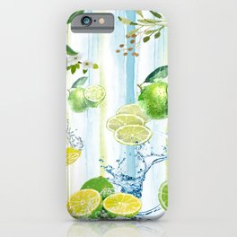 Tropical Lime Splash iPhone Case