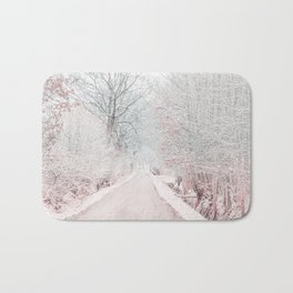 The Winter Road in the Suburb. Bath Mat