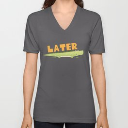 Later Alligator Unisex V-Neck