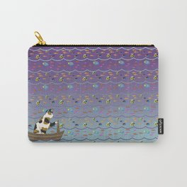 Captain Cat in purple fade Carry-All Pouch
