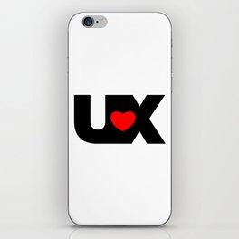 I Love UX iPhone Skin