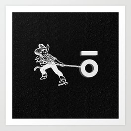 The Keyhole Wrangle Art Print