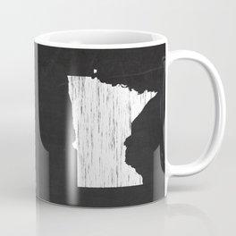 Minnesota State Map Chalk Drawing Coffee Mug