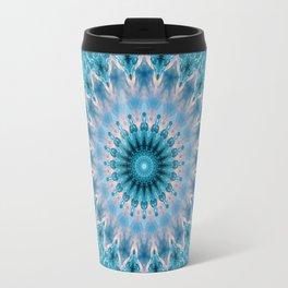 Blue mandala 3 Travel Mug