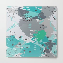 Jessee's Abstract Experiment #001 Metal Print