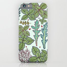 herbs pattern iPhone Case