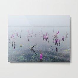 Wet flowers Metal Print