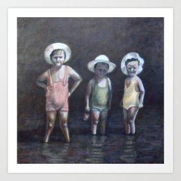 Three Little Pigs (Trois petits cochons) Art Print