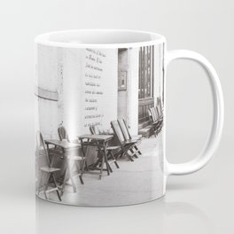 Going for Coffee in Brooklyn Black and White Coffee Mug