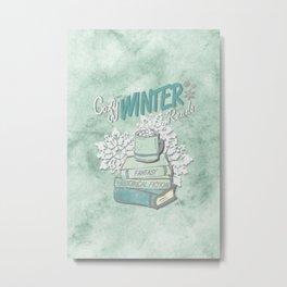 Cozy Winter Reads Metal Print