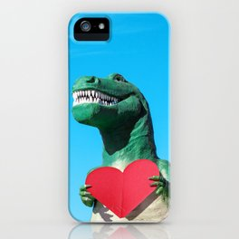 Tiny Arms, Big Heart: Tyrannosaurus Rex with Red Heart iPhone Case