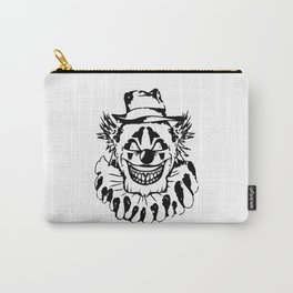 Black and white Evil Clown Carry-All Pouch