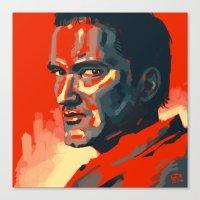 tarantino Canvas Prints featuring Quentin Tarantino by Joel Amat Güell