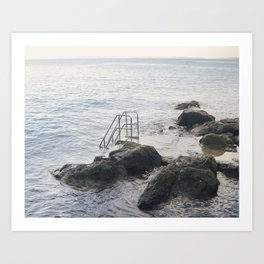 Stairs to the Adriatic Sea Art Print