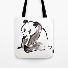 Cute Little Panda Bear Ink Illustration Tote Bag