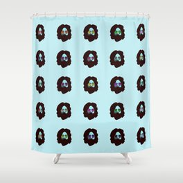 Winter Blues Shower Curtain