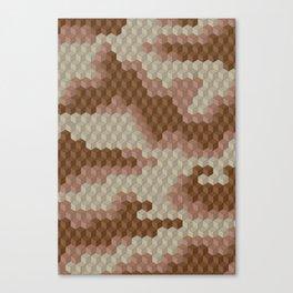 CUBOUFLAGE DESERT Canvas Print