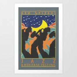 1980 New Orleans Jazz Festival Advertising Gig Poster Art Print
