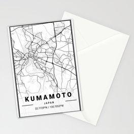Kumamoto Light City Map Stationery Cards