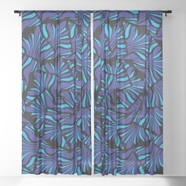 Spiraling Out Sheer Curtain