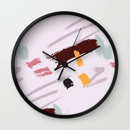 Dust pink dynamic Wall Clock