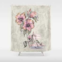 The Orchid House Shower Curtain