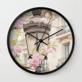 Spring Blooms in Paris Wall Clock