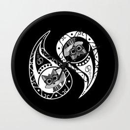 Ying Yang - Fox Nerd Wall Clock