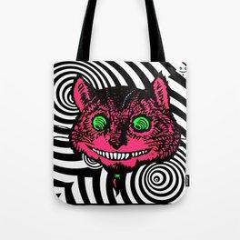 Cheshire Cat in Vortex Tote Bag