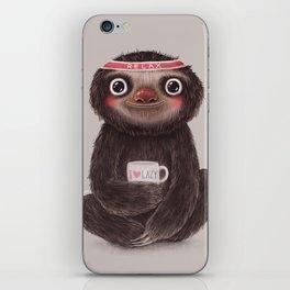 Sloth I♥lazy iPhone Skin