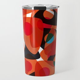 orange 70s Travel Mug