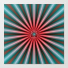 Rays in Turquoise and Pink Canvas Print
